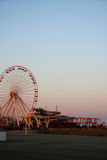 колесо ferris пляжа Стоковое фото RF