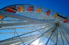 колесо santa пристани monica ferris Стоковое Изображение RF