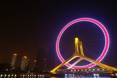 колесо tianjin ferris стоковые фотографии rf