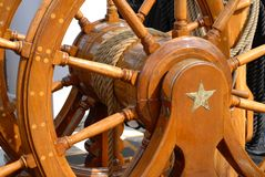 колесо uss кормила конституции Стоковая Фотография RF
