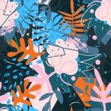 Коллаж абстрактных флористических элементов бумажный Стоковые Изображения RF