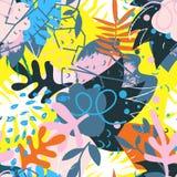 Коллаж абстрактных флористических элементов бумажный Стоковое фото RF