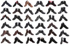 Коллаж ботинок человека стоковое фото rf