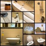 коллаж ванной комнаты самомоднейший Стоковые Изображения RF