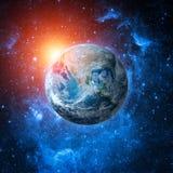 Коллаж глобуса мира от космоса Стоковые Фотографии RF