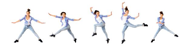 Коллаж девушки танцев Стоковые Изображения