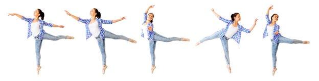 Коллаж девушки танцев стоковые изображения rf