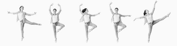 Коллаж девушки танцев Стоковые Фото