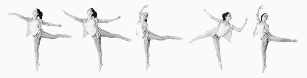 Коллаж девушки танцев Стоковое Изображение