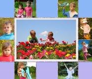 Коллаж детей стоковое изображение rf