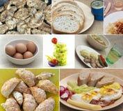 Коллаж еды стоковое изображение