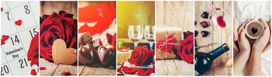 Коллаж любови и роман Стоковое Изображение