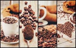 Коллаж много изображений кофе Стоковые Фотографии RF