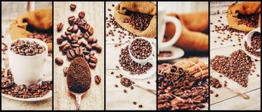 Коллаж много изображений кофе Стоковые Изображения RF