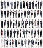 Коллаж молодых бизнесменов стоя в ряд стоковое фото