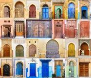 Коллаж морокканской двери входа Стоковая Фотография RF
