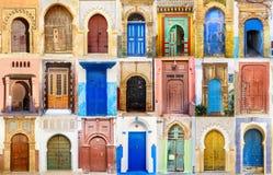 Коллаж морокканской двери входа Стоковое Фото