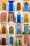 Коллаж морокканской двери входа Стоковая Фотография
