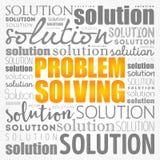 Коллаж облака слова помощи решения проблем иллюстрация вектора