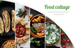 Коллаж от различных изображений вкусной еды Стоковые Изображения RF