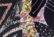 Коллаж покрашенный рукой бумажный Стоковое фото RF