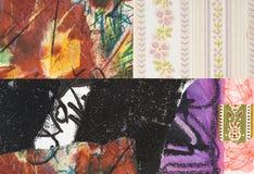 Коллаж покрашенный рукой бумажный Стоковые Фото