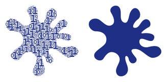 Коллаж помаркой разрядов двоичного числа иллюстрация вектора