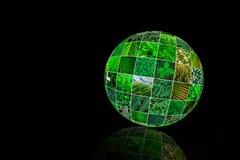 Коллаж природы зеленый Концепция зеленой планеты творческая коричневейте покрытую землю дня относящое к окружающей среде листво и Стоковое Изображение RF