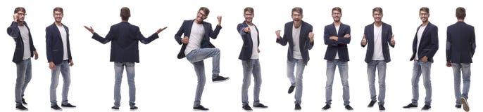 Коллаж различных фото успешного современного человека стоковые фотографии rf
