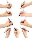 Коллаж рук с ручками