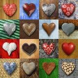 Коллаж сердец Стоковое Фото