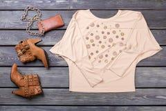 Коллаж собрания одежды и аксессуаров ` s женщин Стоковые Изображения RF