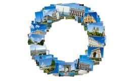 Коллаж собрания фото Парижа Стоковые Изображения