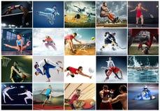 Коллаж о различном виде спорт стоковые фотографии rf