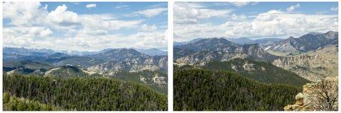 Коллаж страны скалистой горы высокий Стоковое Изображение RF