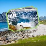 Коллаж туристских фото Норвегии стоковое фото