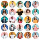 Коллаж удивленных людей стоковое фото rf