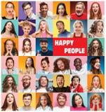 Коллаж удивленных людей Стоковые Изображения