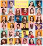 Коллаж удивленных людей Стоковое Изображение