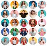 Коллаж удивленных людей Стоковое Изображение RF