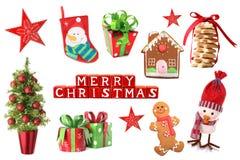 Коллаж украшений рождества Стоковые Фото
