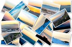 Коллаж фото захода солнца Стоковые Изображения RF