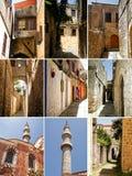 Коллаж фото от Родоса, старого городка стоковые фото