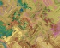 Коллаж холста Пятно акрилов Творческой абстрактной предпосылка покрашенная рукой Акриловые крася ходы на холсте искусство самомод иллюстрация штока