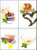 Коллаж чая Стоковая Фотография RF