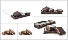 Коллаж шоколада Стоковые Изображения