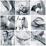 коллаж 9 фото wedding стоковая фотография rf