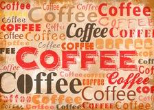 Коллаж Typo кофе Стоковые Изображения RF