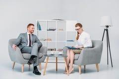 Коллеги на деловой встрече Стоковое Фото