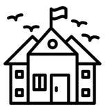 Коллеж изолировал значок вектора который может легко доработать или отредактировать изолированный коллежем значок вектора который бесплатная иллюстрация